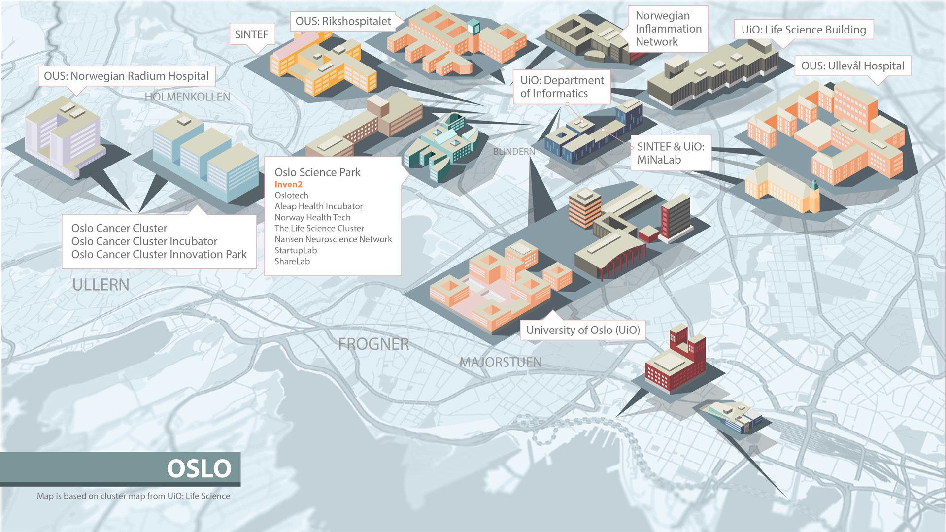 Økosystem Oslo kart